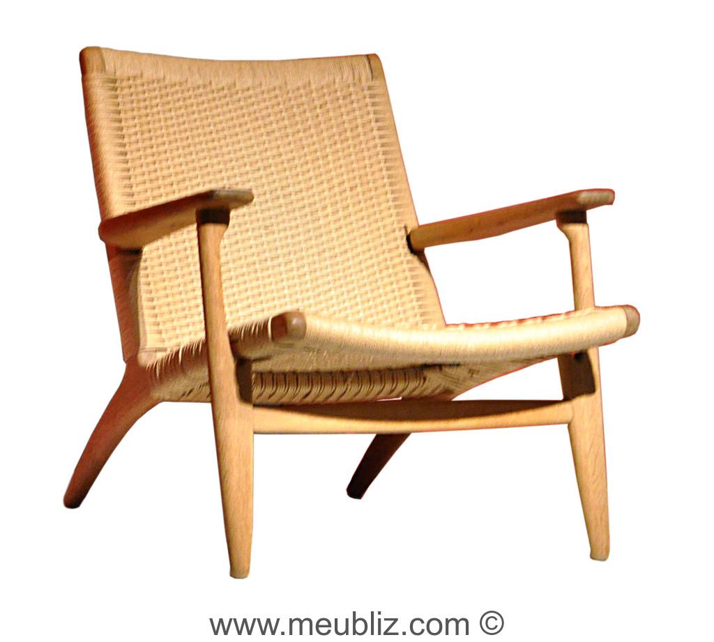 fauteuil lounge ch25 iruna par hans j wegner meuble. Black Bedroom Furniture Sets. Home Design Ideas