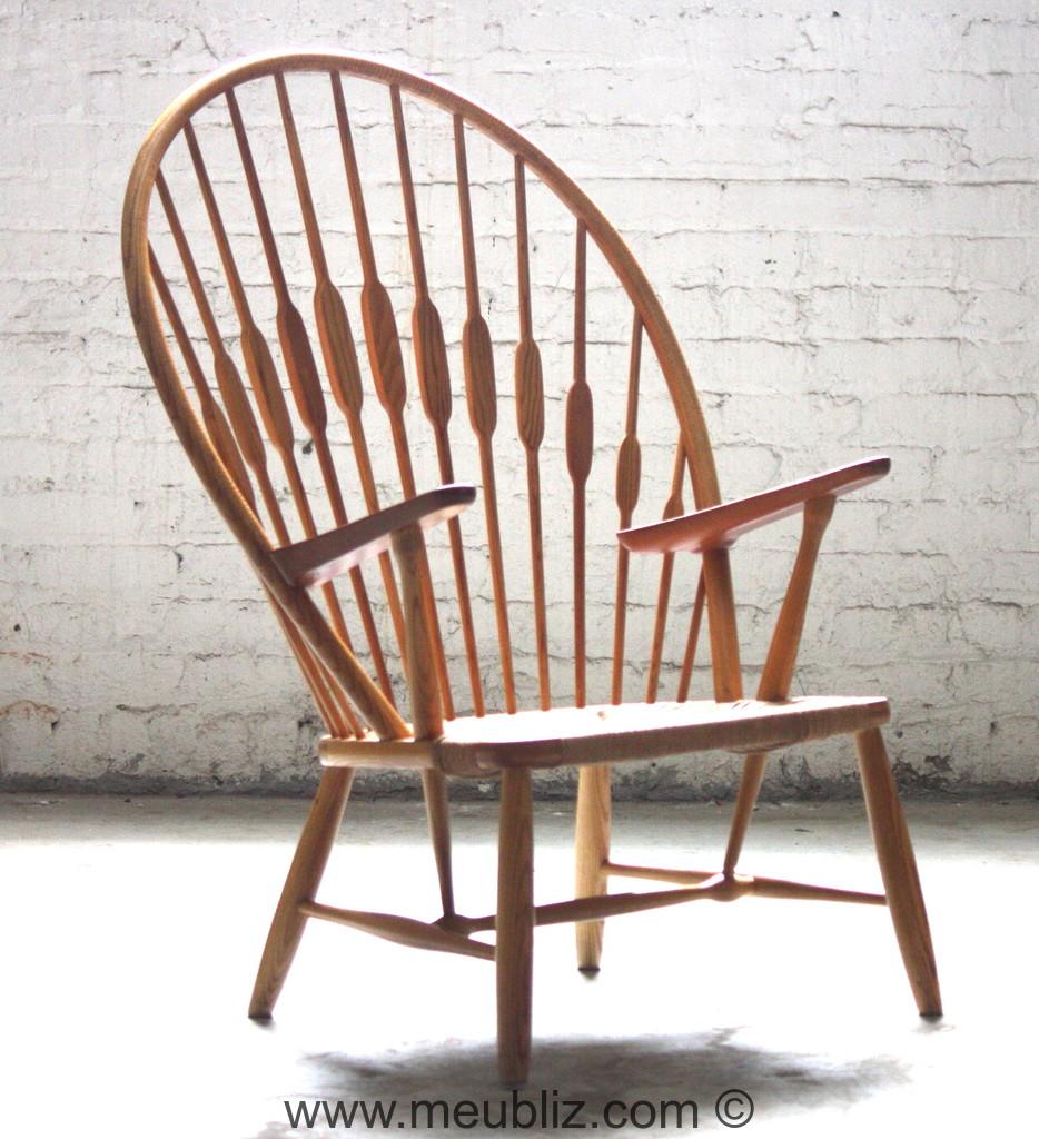 fauteuil paon ou peacock n jh550 par hans j wegner. Black Bedroom Furniture Sets. Home Design Ideas