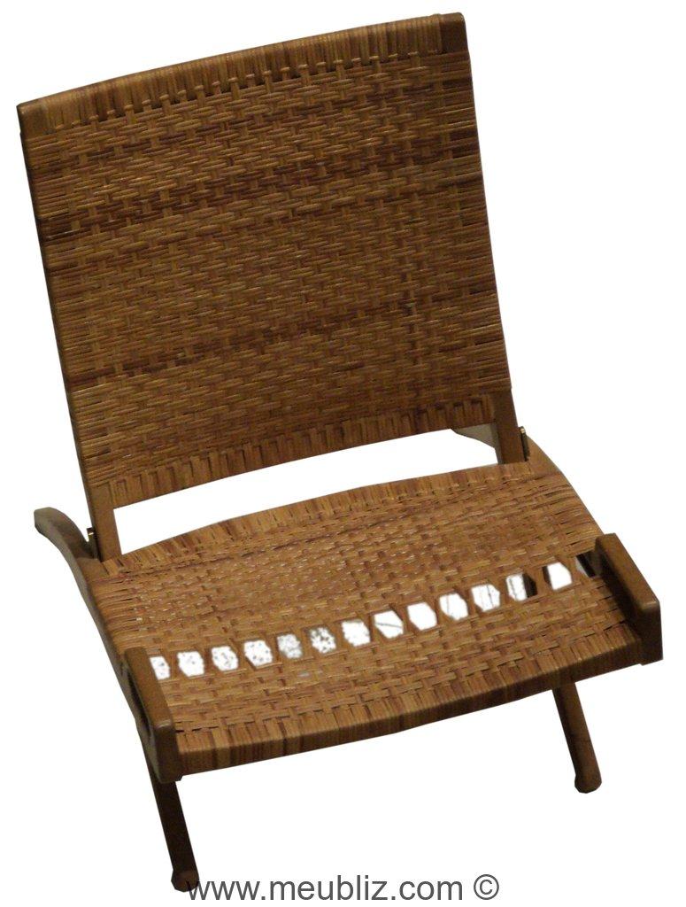 chaise pliante pp512 jh512 par hans j wegner meuble design. Black Bedroom Furniture Sets. Home Design Ideas