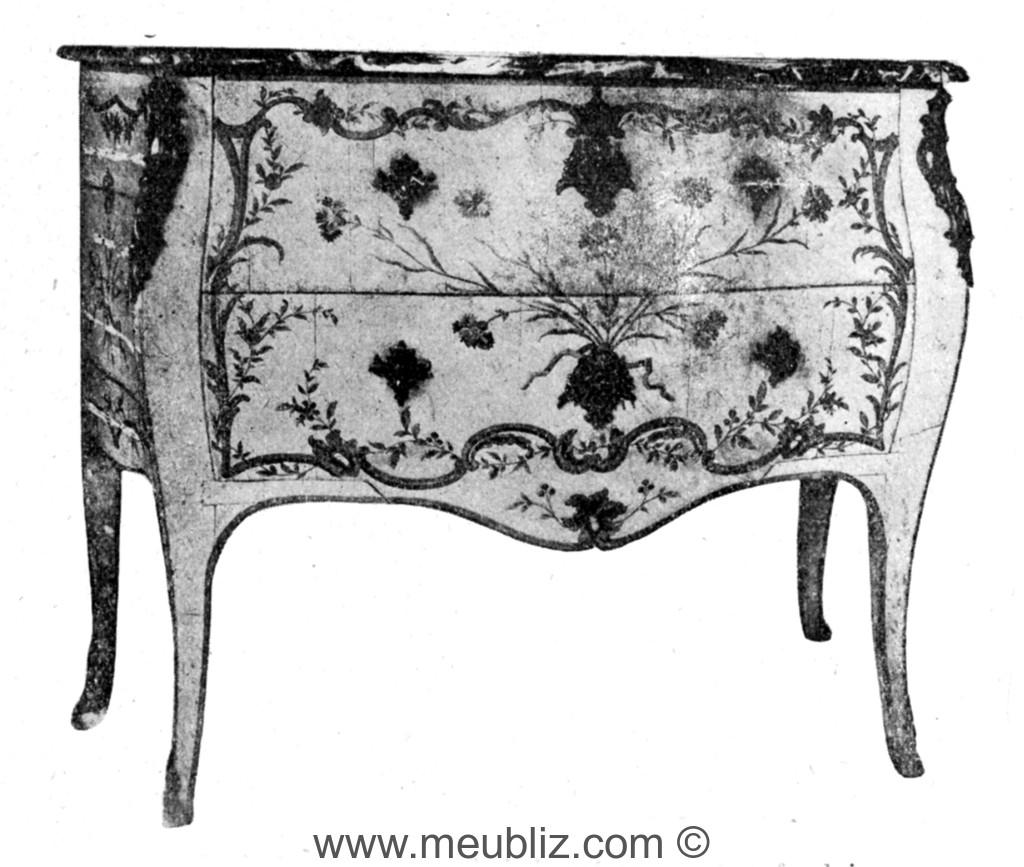 commode sauteuse galb e louis xv sans traverses meuble de style. Black Bedroom Furniture Sets. Home Design Ideas