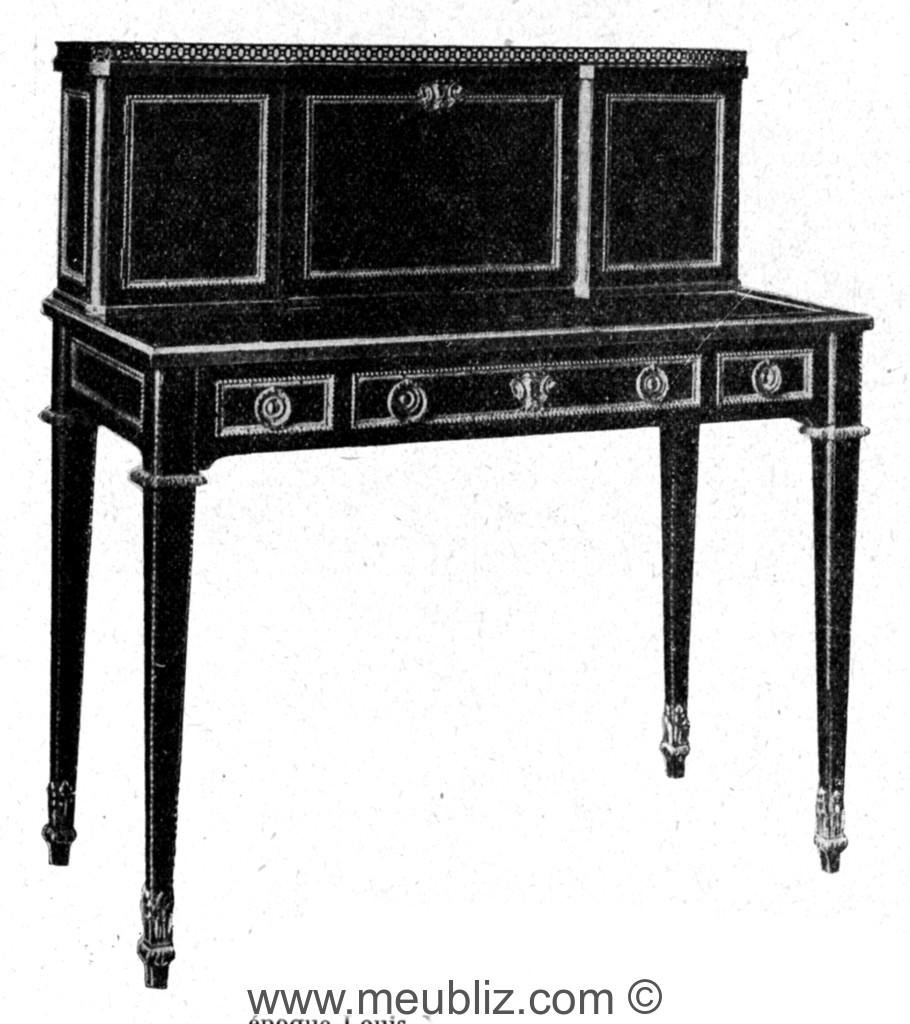 Bonheur du jour louis xvi meuble de style for Bureau bonheur du jour ancien