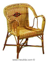 Le mobilier en rotin - Salon de jardin et chaises de bistrot