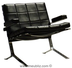 chaise mr10 par ludwig mies van der rohe meuble design. Black Bedroom Furniture Sets. Home Design Ideas