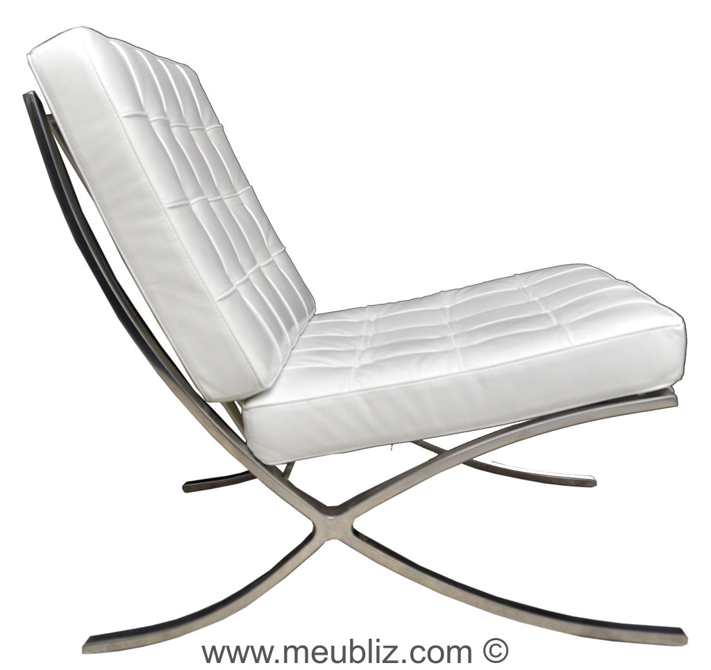 fauteuil barcelona chauffeuse culte des int rieurs design par ludwig mies van der rohe. Black Bedroom Furniture Sets. Home Design Ideas