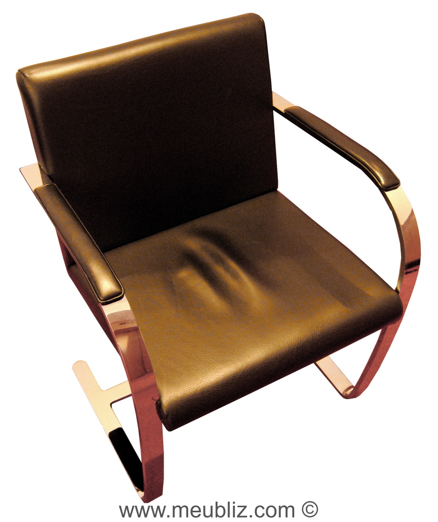 Chaise Brno Mies Van Der Rohe fauteuil « brno », mr50 - par ludwig mies van der rohe