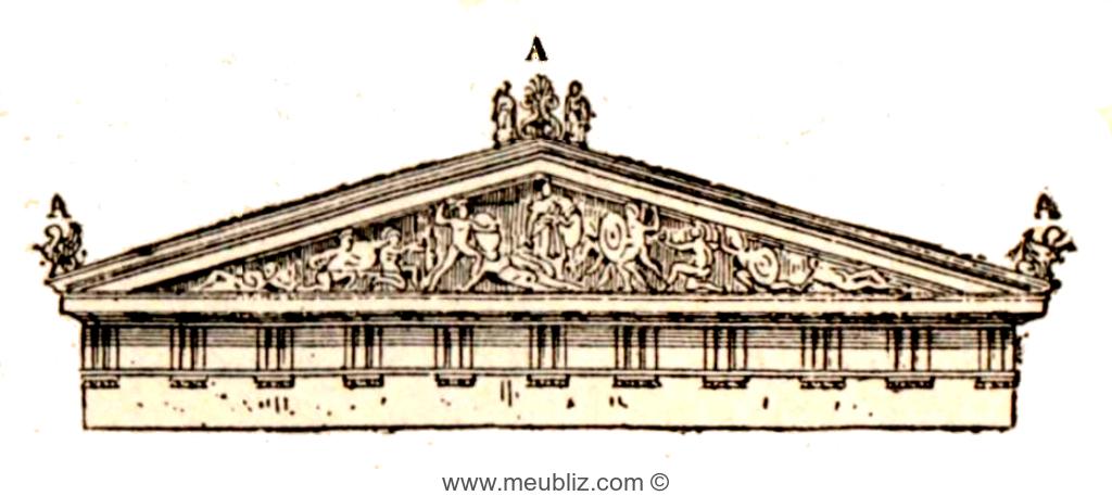 Acrot re d finition de ce petit pi destal de toit en for Architecture romane definition