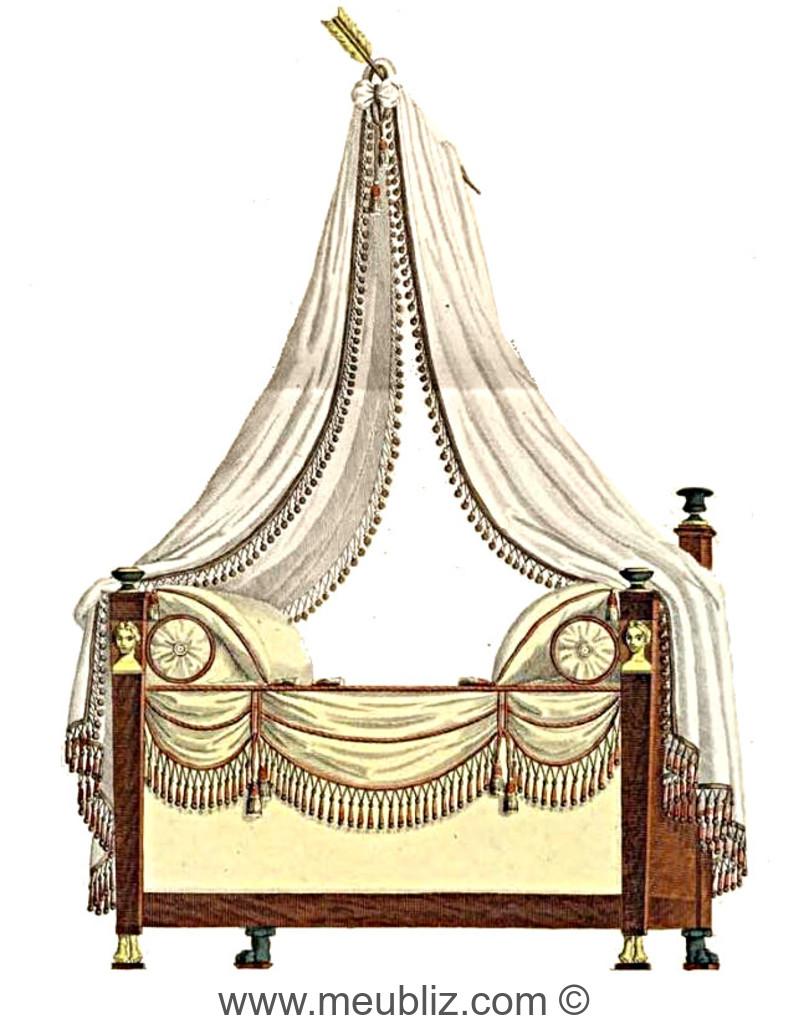 lit empire montants de buste gain meuble de style. Black Bedroom Furniture Sets. Home Design Ideas