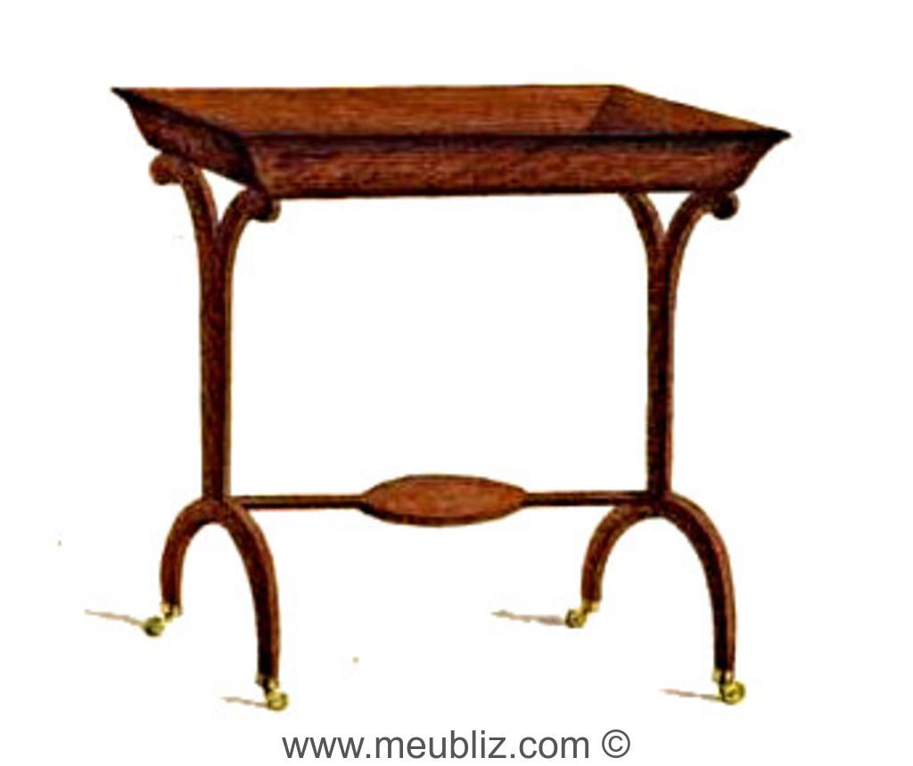 Table tricoteuse Directoire en vide-poche à montants latéraux ...