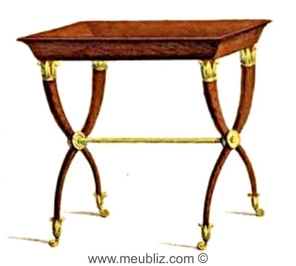 Table Tricoteuse Directoire En Vide Poche A Montants