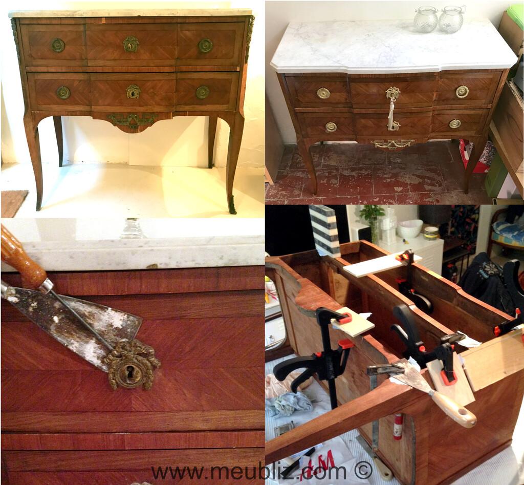 Commode Ancienne A Restaurer restauration d'une commode sauteuse transition à décor de