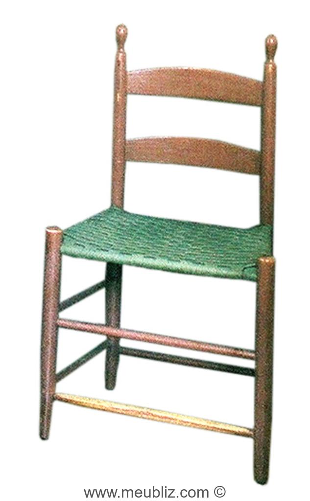 Chaise shaker dossier standard meuble de style - Meuble shaker ...