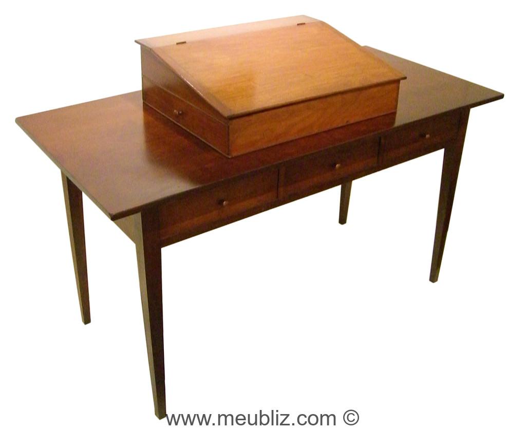 Bureau plat shaker meuble de style - Meuble shaker ...