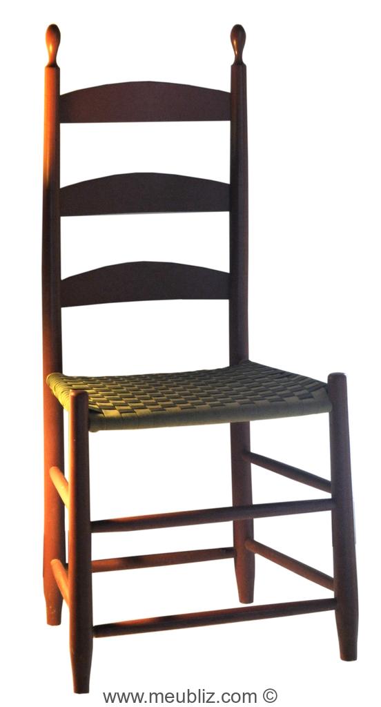 Chaise shaker haut dossier meuble de style - Meuble shaker ...