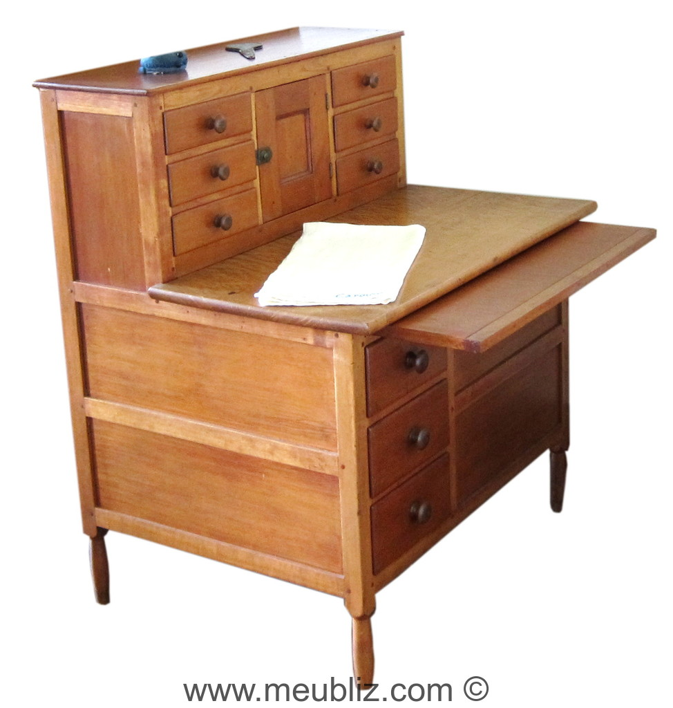 Bureau gradin shaker meuble de style - Meuble shaker ...