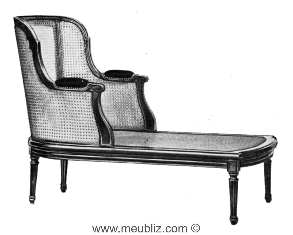 chaise longue louis xvi cann e dossier gondole meuble de style. Black Bedroom Furniture Sets. Home Design Ideas