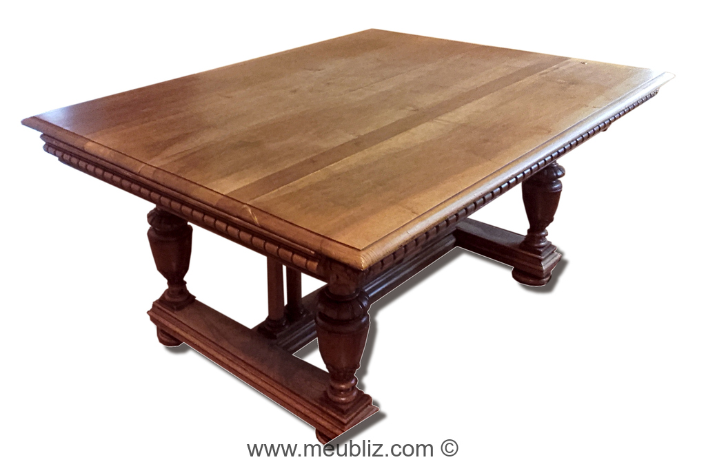 Grande Table Henri Ii Neo Renaissance Rectangulaire A