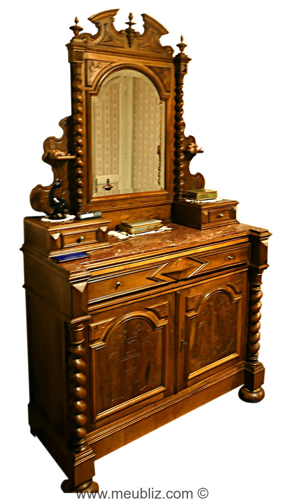 buffet de toilette henri ii meuble de style. Black Bedroom Furniture Sets. Home Design Ideas