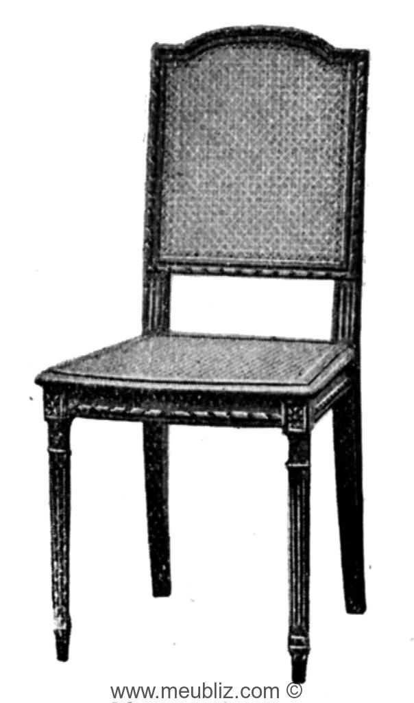 chaise louis xvi cann e sommet de dossier en anse de panier. Black Bedroom Furniture Sets. Home Design Ideas