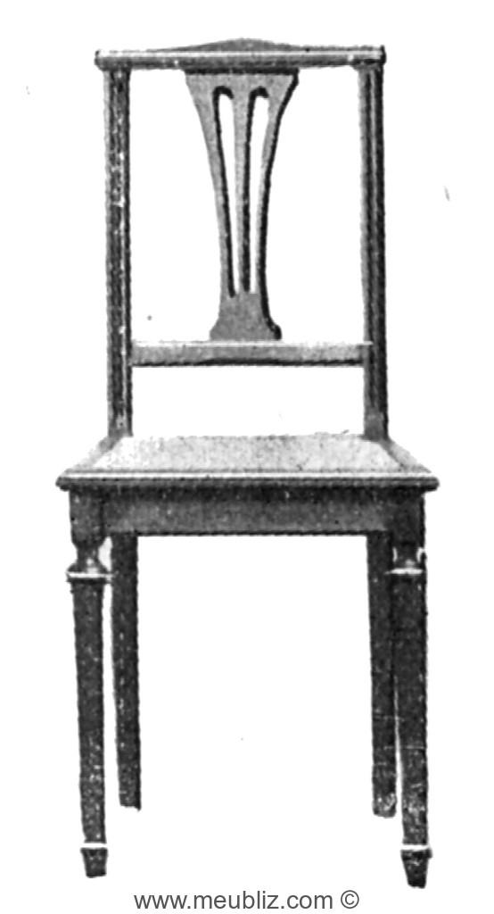 Chaise volante louis xvi dossier ajour motif meuble for Chaise volante