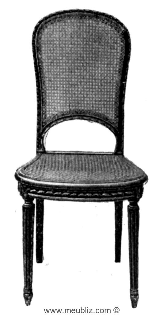 chaise cabriolet louis xvi cann e dossier en raquette meuble de style. Black Bedroom Furniture Sets. Home Design Ideas