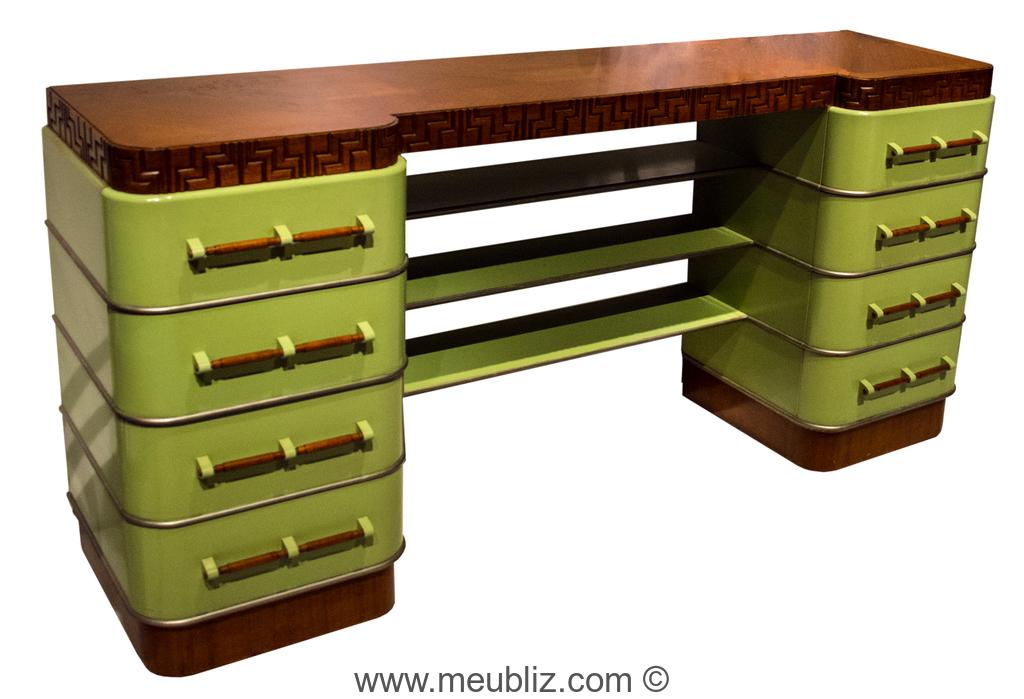 Bureau métal art déco par kem weber meuble design