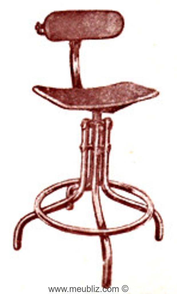 Chaise Haute Industrielle N235 Bienaise