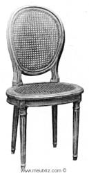chaise Louis XVI cannée à dossier médaillon