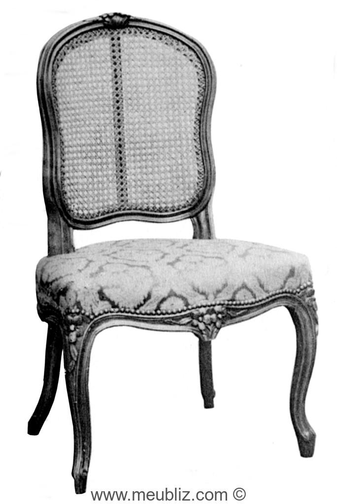chaise cabriolet louis xv garnie dossier cann meuble de style. Black Bedroom Furniture Sets. Home Design Ideas