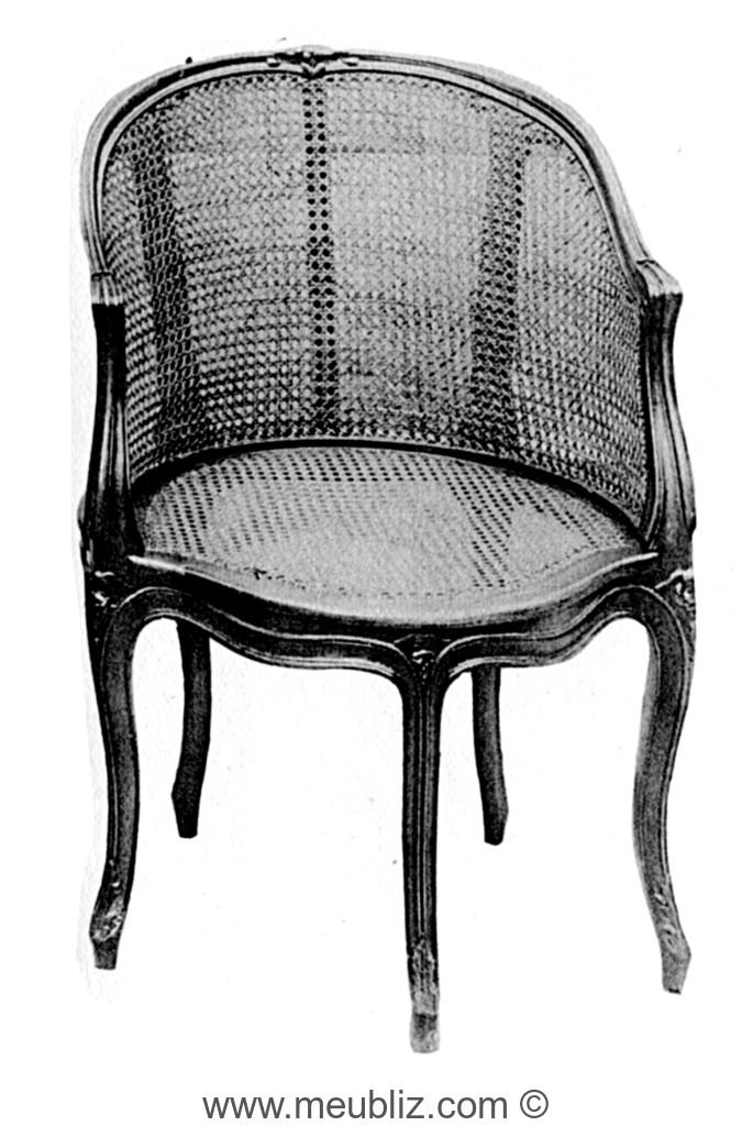 Fauteuil de bureau gondole louis xv cann cinq pieds - Pied fauteuil de bureau ...