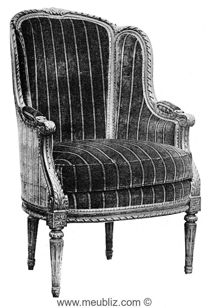 berg re oreilles louis xvi sommet de dossier arrondi meuble de style. Black Bedroom Furniture Sets. Home Design Ideas