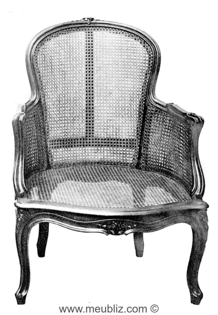 berg re louis xv dossier violon en cannage meuble de. Black Bedroom Furniture Sets. Home Design Ideas
