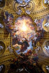 Le triomphe du nom de Jésus par Le Baciccia, 1676-1679, église du Gésu