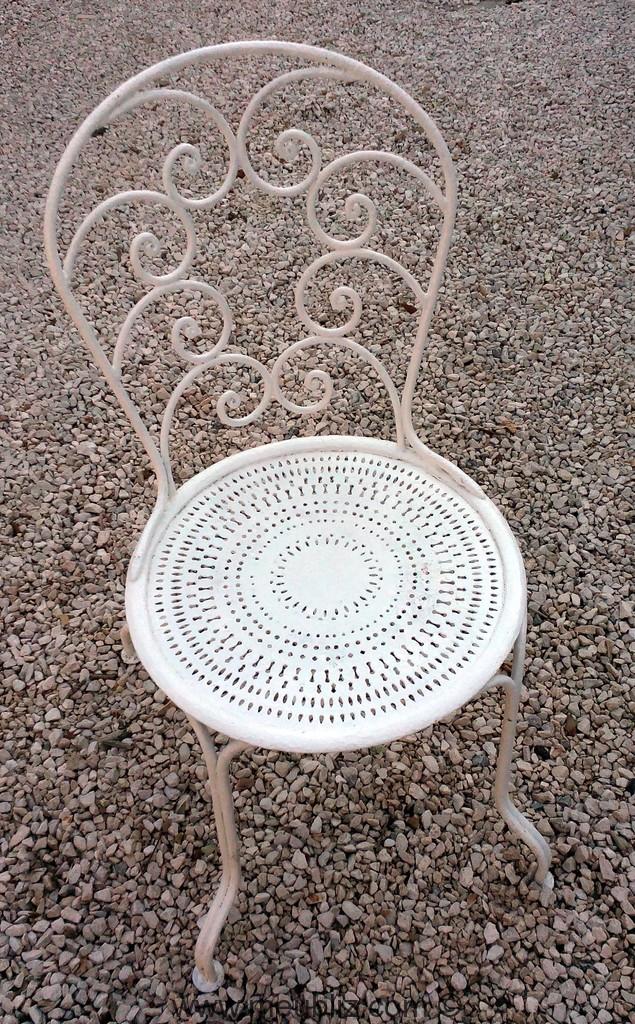 Fer Jardin Meuble Chaise 1900 Forgé De En Style IEH9eWD2Y