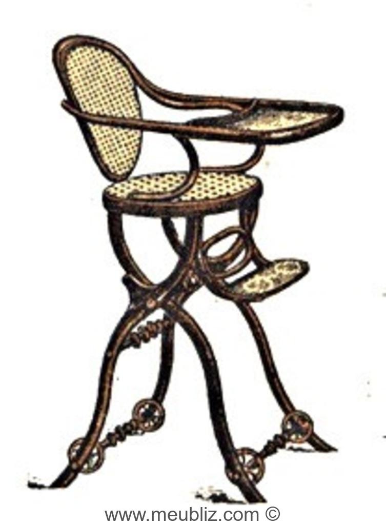 chaise haute d 39 enfant roulette n 12356 par michael thonet. Black Bedroom Furniture Sets. Home Design Ideas