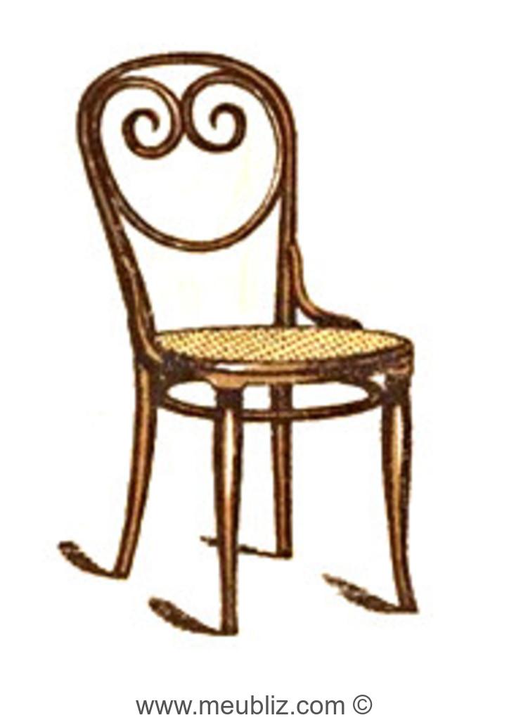 chaise n 2 par michael thonet. Black Bedroom Furniture Sets. Home Design Ideas