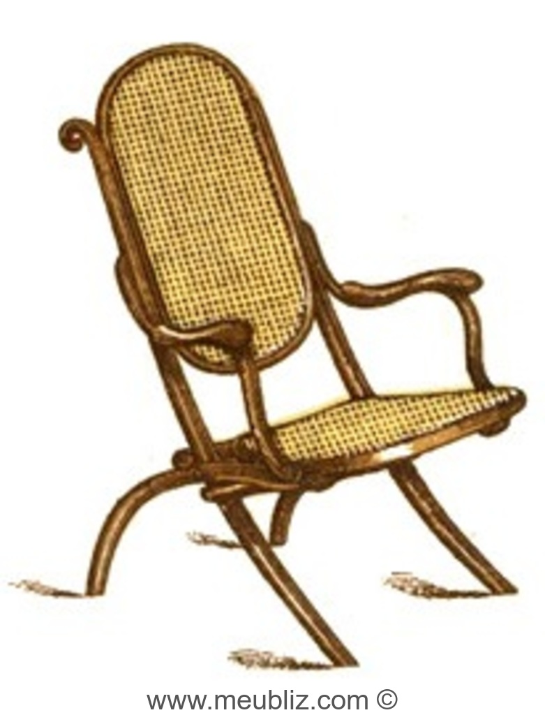 fauteuil pliant style voltaire thonet. Black Bedroom Furniture Sets. Home Design Ideas
