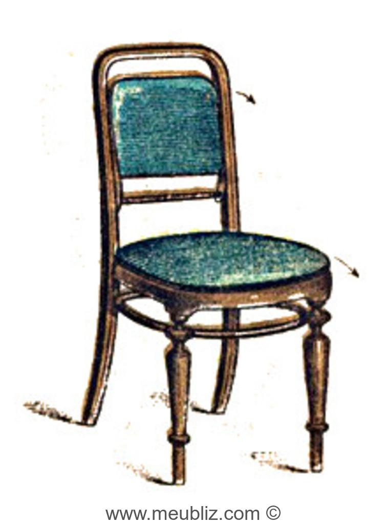 Chaise escalier par michael thonet for Chaise escalier