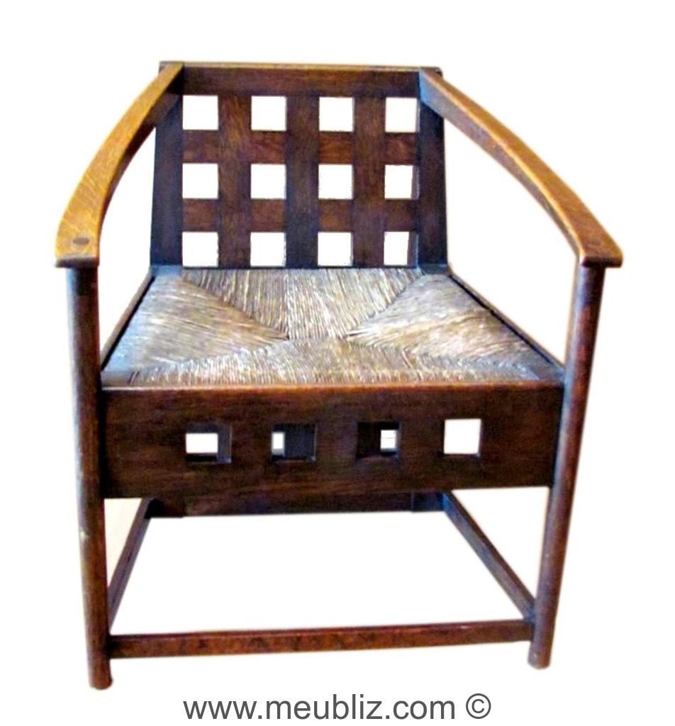 fauteuil bas hill house par charles rennie mackintosh meuble design. Black Bedroom Furniture Sets. Home Design Ideas