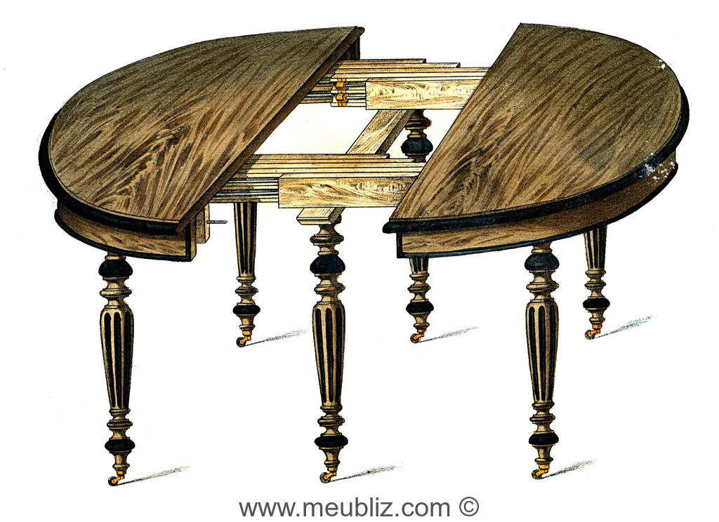 Grande table rallonge ovale louis xvi pieds fusel s for Grande table a rallonge