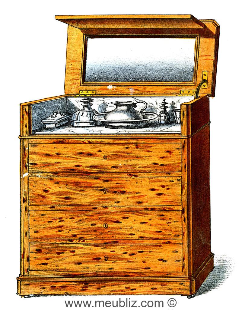 Commode Ancienne A Restaurer commode de toilette restauration louis-philippe - meuble de