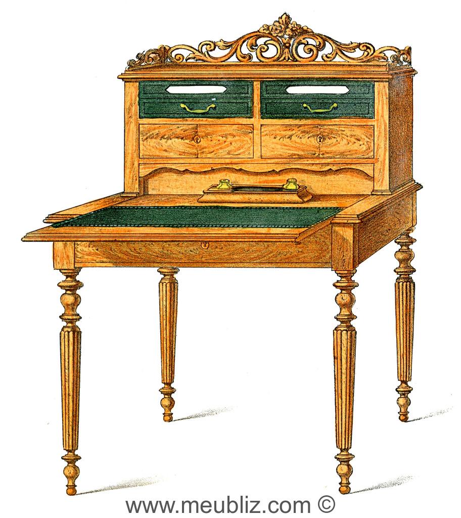 bureau plat louis xvi meuble de style. Black Bedroom Furniture Sets. Home Design Ideas