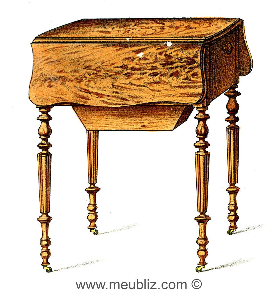 Table A Ouvrage Napoleon Iii A Volets Et Vide Poche Sur