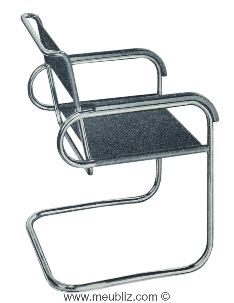 fauteuil b46 par marcel breuer meuble design. Black Bedroom Furniture Sets. Home Design Ideas