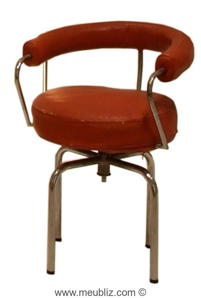 fauteuil tournant lc7 mod le b9 ou b302 par le corbusier et charlotte perriand et pierre. Black Bedroom Furniture Sets. Home Design Ideas