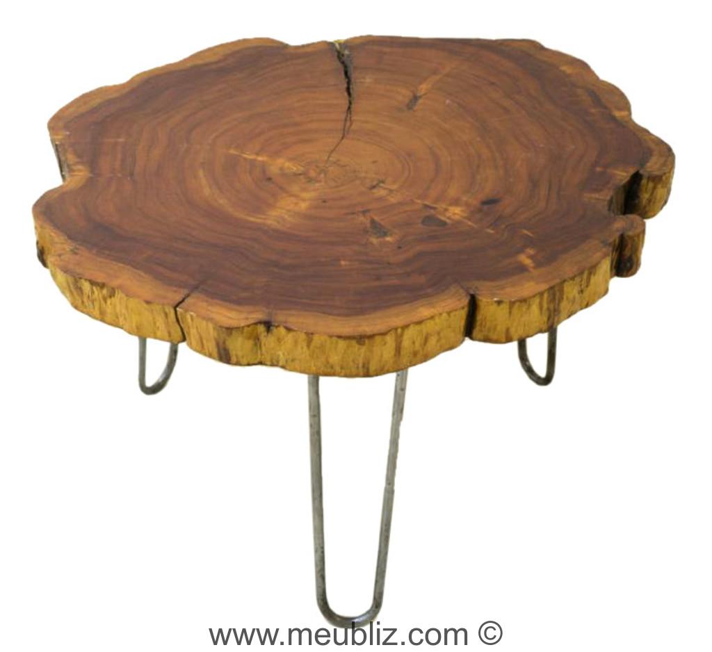 """table basse """"tree trunk"""" - par le corbusier - meuble design"""
