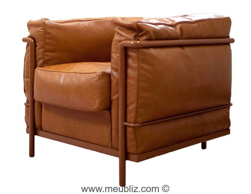 fauteuil lc2 grand confort par le corbusier et. Black Bedroom Furniture Sets. Home Design Ideas